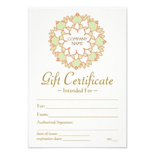 Massage Gift Certificate Template Healing Arts Pinterest - gift certicate template