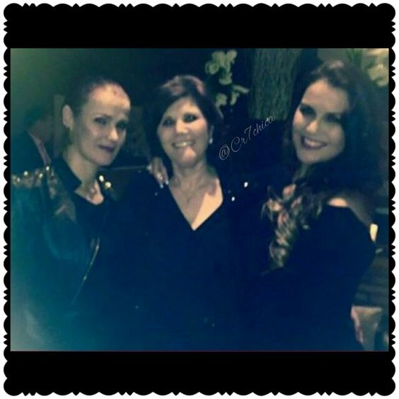 Elma Aveiro Caires, Maria Dolores, and Katia Aveiro at Cristiano Ronaldo 's birthday party. 020715
