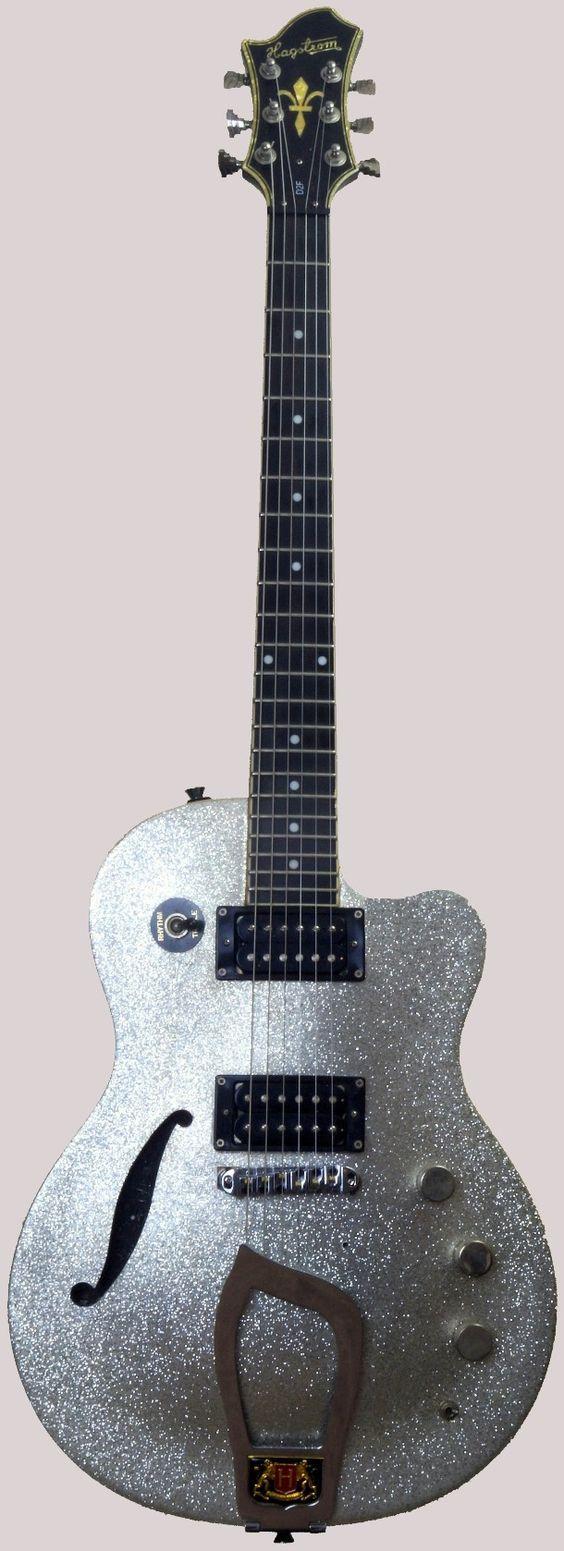 Hagstrom snowflake D2F Tremar Special semi acoustic guitar at Ukulele Corner