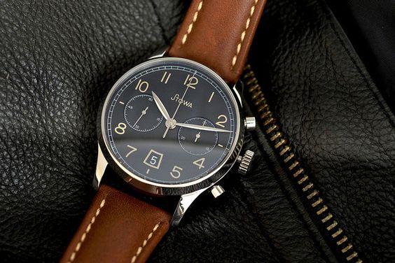 Stowa 1938 Chronograph Black Dial | Flickr - Photo Sharing!