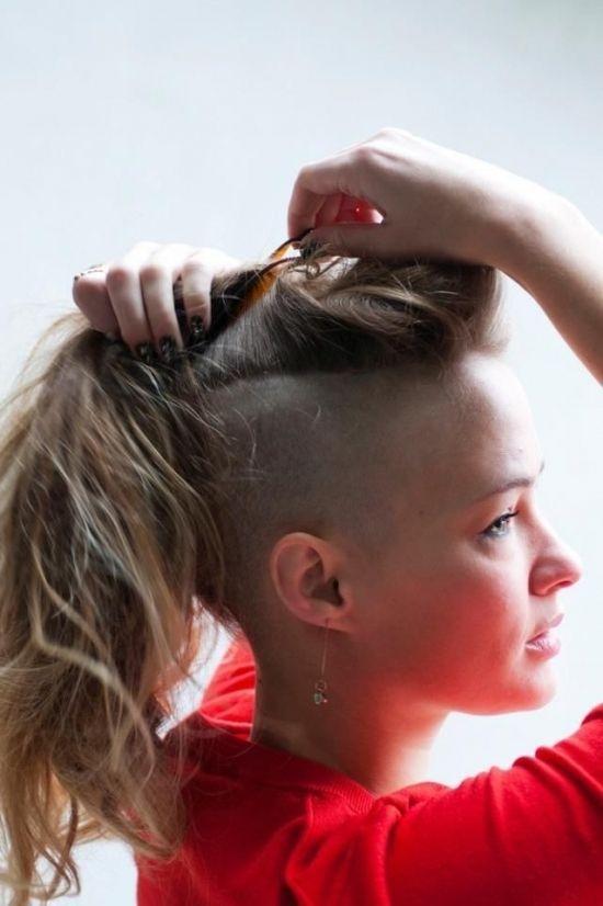 Rasur Frisuren Fur Frauen Lange Haare