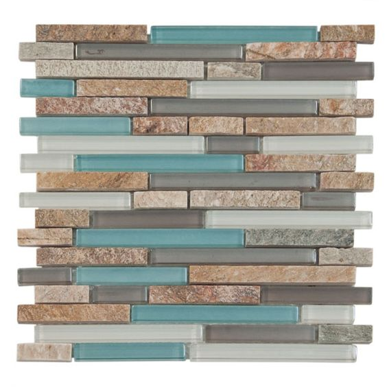 Santiago Glass. I would love this color palette for my kitchen! Paint the bottom cabinets the turquoise and the upper cabinets the slate grey. (or vice versa)