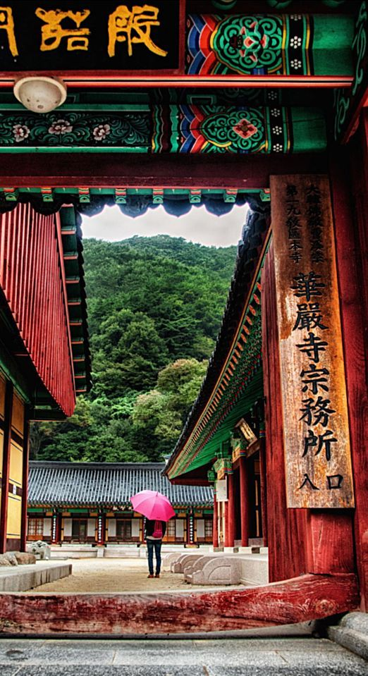 Temple visit, South Korea