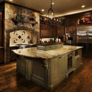 Old world tuscan kitchens i love the warmth of the woods for Old world tuscan kitchen designs