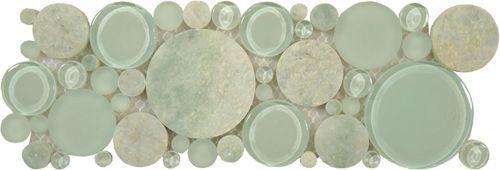 "Joe Ventura Glass Tile - Bubble Tile 4"" X 12"" - Moonstone B400   Artwalk Tile"