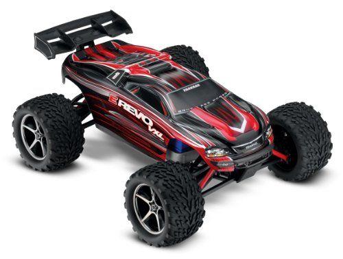 Traxxas E Revo Vxl 1 16 Scale 4wd Racing Monster Truck With Tqi 2 4ghz Radio Tsm Red In 2020 E Revo Monster Trucks Traxxas