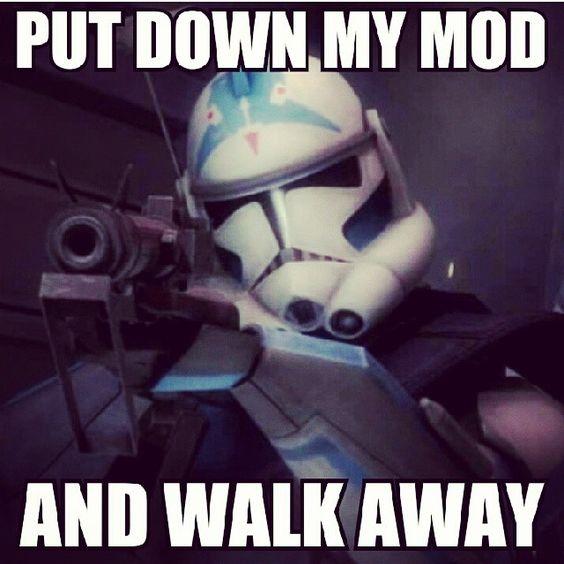 That moment when a stranger touches your mod!  #vaping #vapelife #vapecommunity #meme #vapememe #funny #lol #starwars #stormtrooper #mod #mechmod #vapemod #LiquidSoulVapor