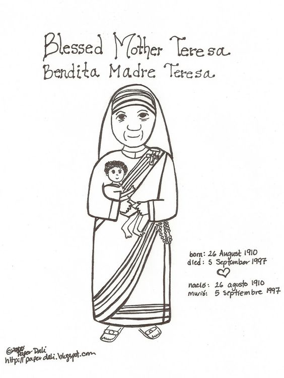 Mother teresa research paper outline