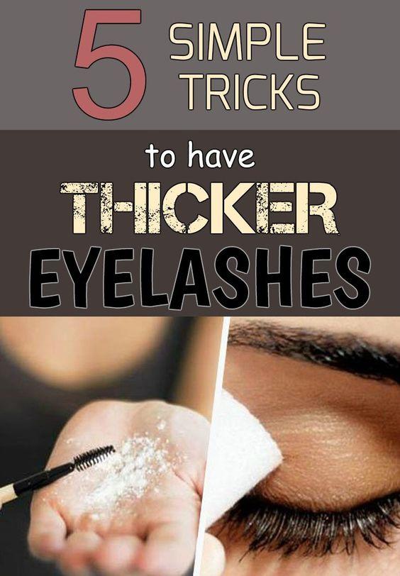 5 simple tricks to have thicker eyelashes - WomenDiva.com