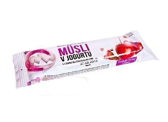 Barrita de Muesli con un delicado sabor de la fruta jugosa y yogur que contiene sustancias activas que ayudan a la pérdida de peso y quemar grasa.   Contiene L-Carnitina, que es un aminoácido no esencial que ayuda a mantener una buena salud en general, facilitando la transferencia de grupos de ácidos grasos en la membrana mitocondrial en la producción de energía celula