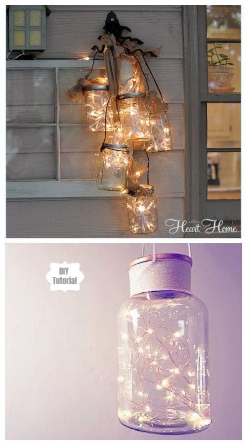 20 Stunning Outdoor Lighting Ideas And Projects Diy Lighting Diy Mason Jar Lights Bedroom Lighting Diy