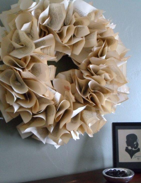 Book Lovers Wreath | So Very Vicki