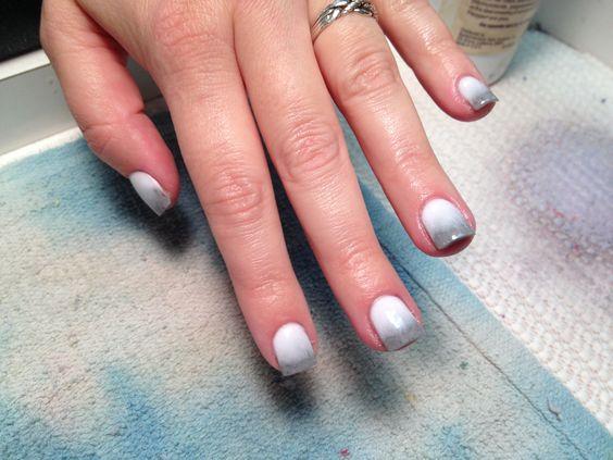 White to gray