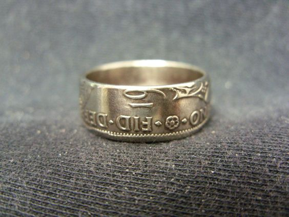 Handmade UK coin ring - 1948, size M 1/2 (US 16 1/2), (R603)