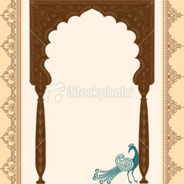 peacock arch for invitations