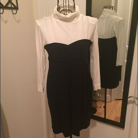 Dress with built in turtle neck Dress with built in turtle neck. Great winter dress paired with tights or leggings. Hidden zipper under left arm. Size small. Sorry  trades Forever 21 Dresses Long Sleeve