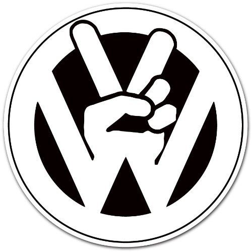 "Vw Bug Stickers >> Volkswagen VW Peace Logo Car Bumper Sticker Decal 4""x4"" by Auto/Moto by enigmacode, http://www ..."