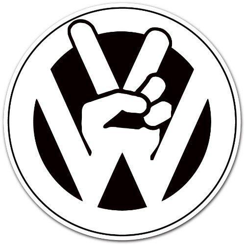 volkswagen vw peace logo car bumper sticker decal 4 u0026quot x4 u0026quot  by auto  moto by enigmacode