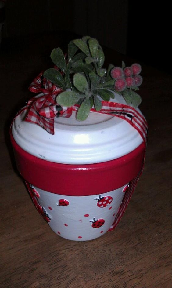 Other gifts and cookie swap on pinterest for Small clay pots