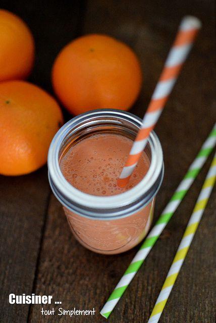 Smoothie Carotte-Orange-Banane ... de la vitamine pour l'hiver - Cuisiner... tout Simplement, Le Blog de cuisine de Nathalie