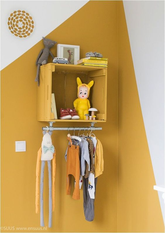 Jaune moutarde chambre d 39 enfant chambre pinterest for Decoration murale jaune moutarde