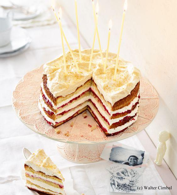 Himbeer Rhabarber Gewürzcreme Torte