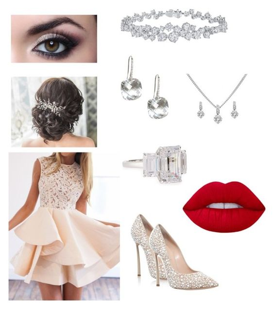 """""""Going to prom"""" by queenshaima ❤ liked on Polyvore featuring Casadei, Fantasia by DeSerio, Harry Winston and Lime Crime"""