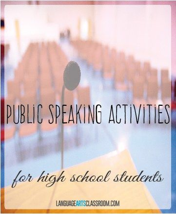 Do you need public speaking activities for high school students? These activities are diverse and easily adaptable.