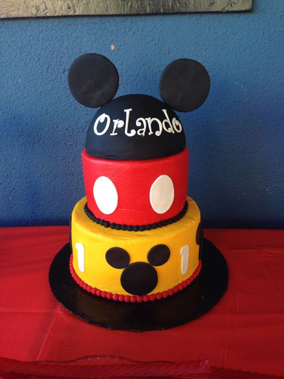 Mickey Mouse cake. You can have your buttercream look just like fondant #confectionsbynadine