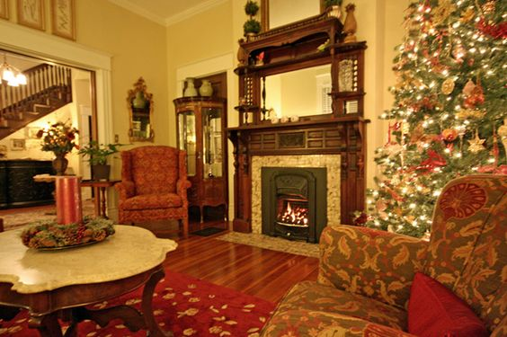 The parlor is an iviting place to visit at Asheville Seasons Bed and Breakfast in Asheville.