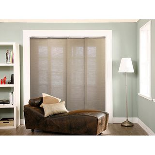 Curtains Ideas 80 inch door panel curtains : Chicology Adjustable Sliding Panel Cordless Shade Double Rail ...