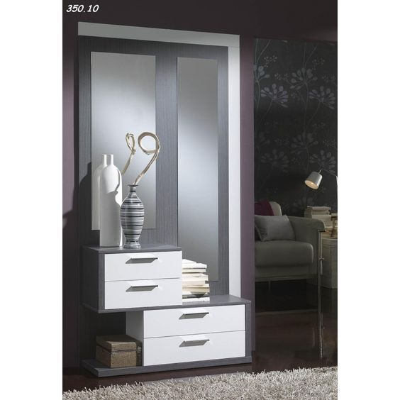 meuble d 39 entr e console avec miroirs lovi 19 consoles d. Black Bedroom Furniture Sets. Home Design Ideas