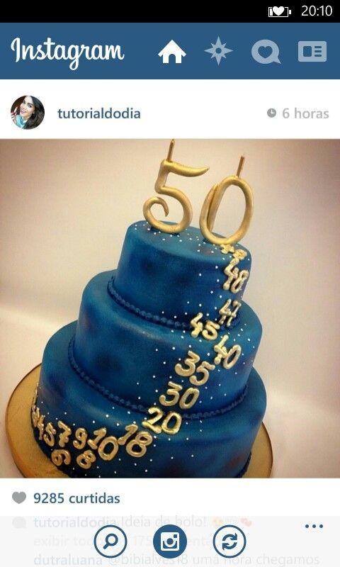 Torta De 50 Bolos De Aniversario De 60 Anos Bolo De 50 Anos