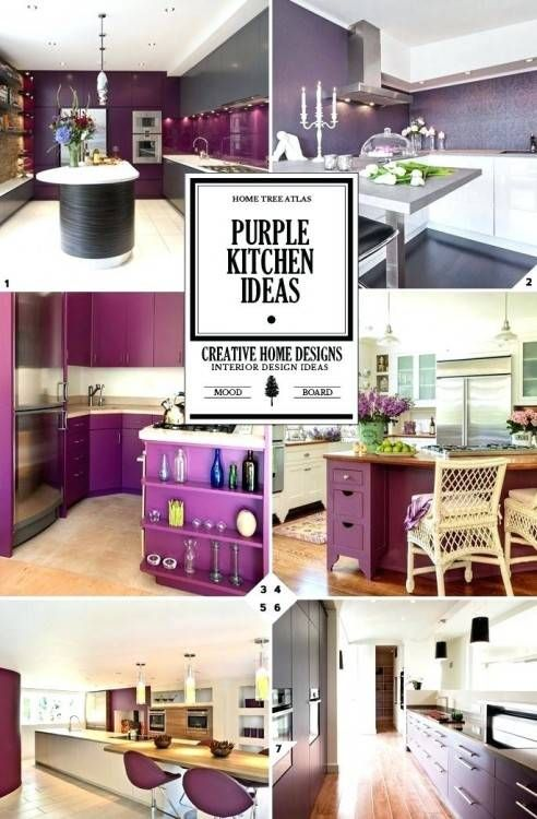 Interior Design Kitchen Purple Kitchen Cabinets Purple Kitchen Decor Purple Kitchen Walls
