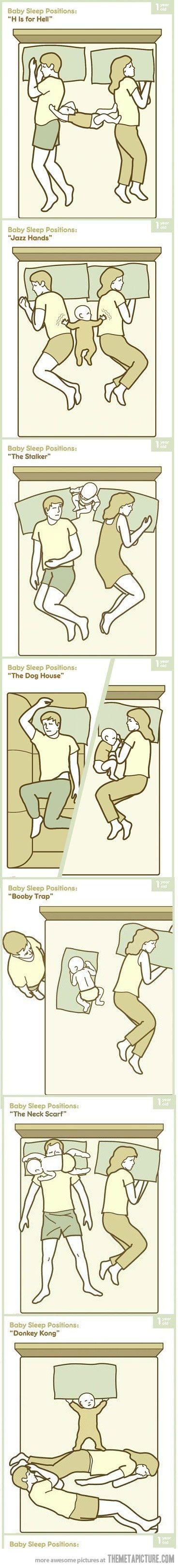 Baby sleep positions