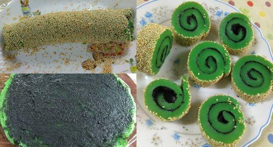 Cara Membuat Kue Mochi Gulung Pandan
