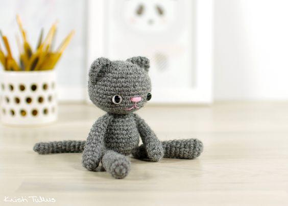 Free Crochet Cat Keychain Pattern : Free crochet, Crochet patterns and Cats on Pinterest