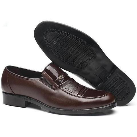polishable black leather shoes