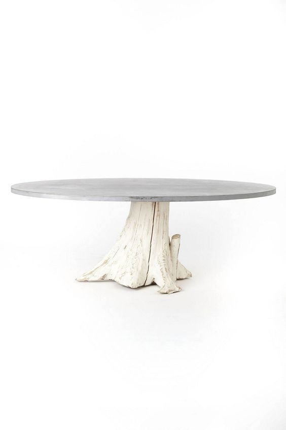 tree trunk dining table {Anthropologie Mineral and Might}...........Love this, but I prefer natural tones.