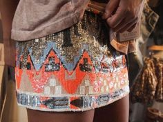 Sparkling aztec skirt