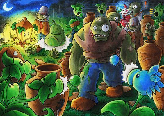 Plants vs. Zombies Vasebreaker by Merinid-DE on DeviantArt