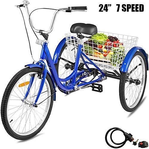 New Happybuy Adult Tricycle Single 7 Speed Three Wheel Bike Cruise