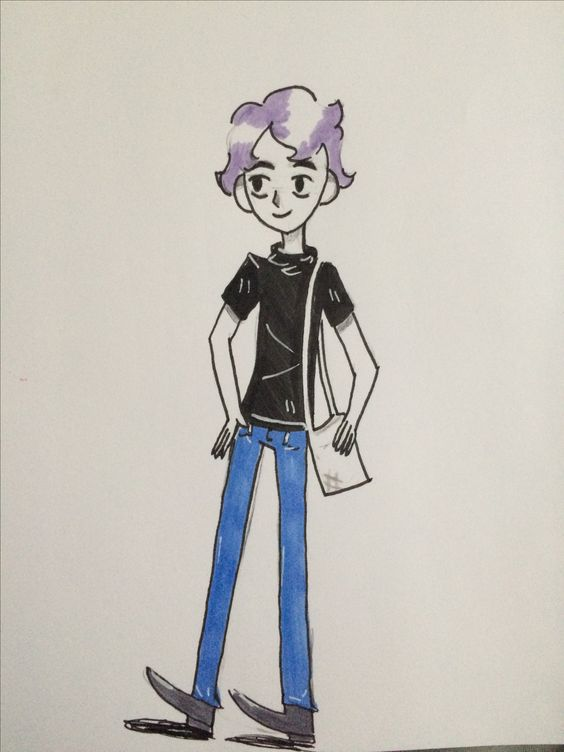 Guess who put effort into making an Oc? This is my smol grape son
