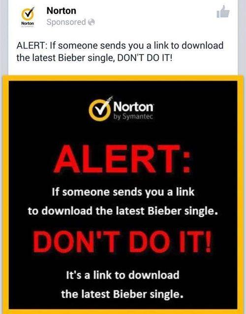 Norton security warning!