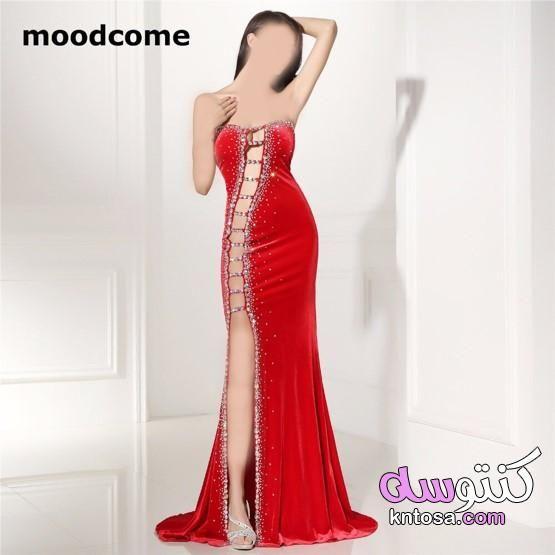 فساتين سهرة باللون الاحمر الغامق فساتين حمراء طويلة2021 فساتين حمراء للسهرة اشكال فساتين سهرة حمراء Formal Dresses Dresses Fashion