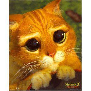 Shrek 2 Movie Poster Puss in Boots Cute Cat Face | CUTE ...