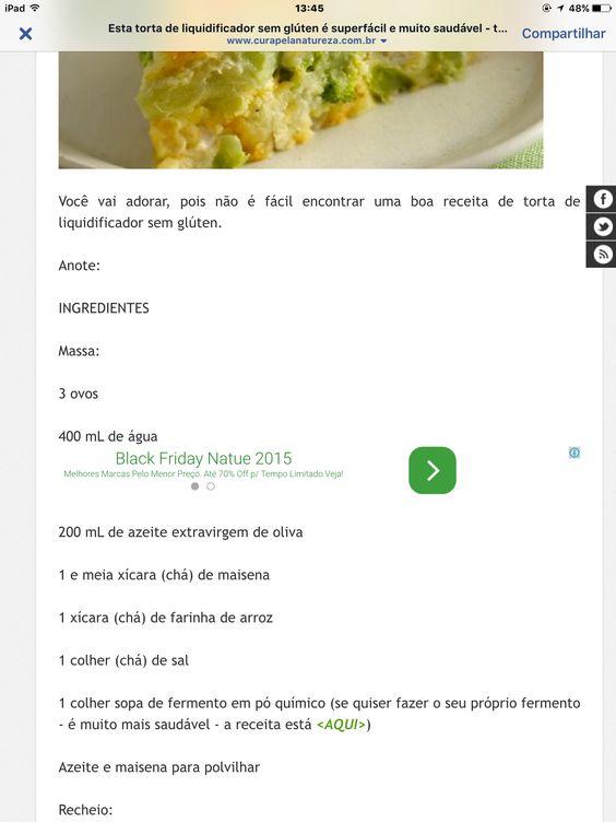 Torta de legumes de liquidificador 1