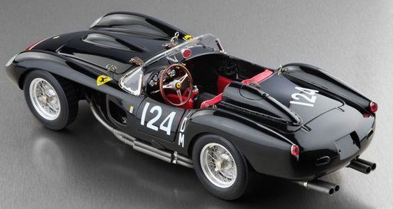 1958 ferrari 250 testa rossa in black start dm 124 diecast car model by cmc in 1 18 scale. Black Bedroom Furniture Sets. Home Design Ideas