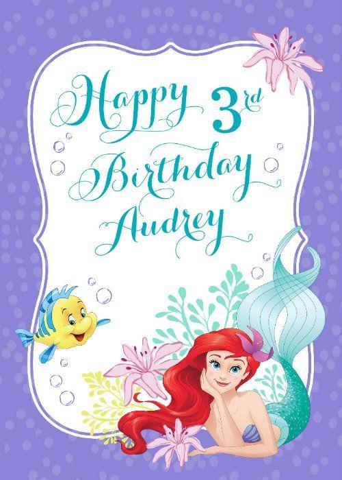Ariel Under The Sea Adventure Happy Birthday Card Zazzle Com In 2021 Unicorn Birthday Invitations Little Mermaid Birthday Disney Princess Birthday Party
