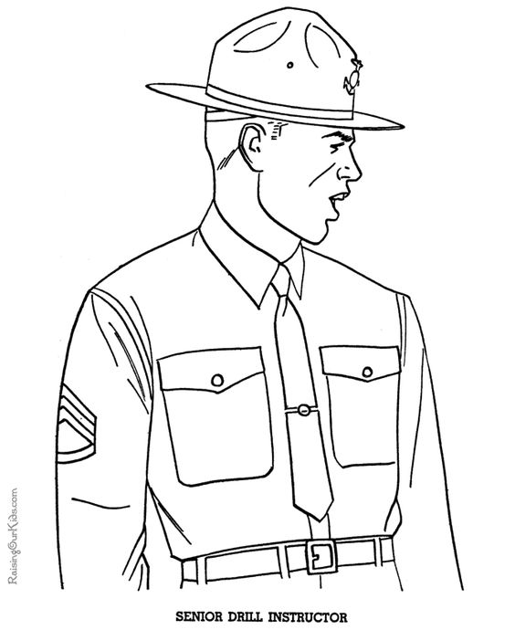 Patriotic military coloring pages